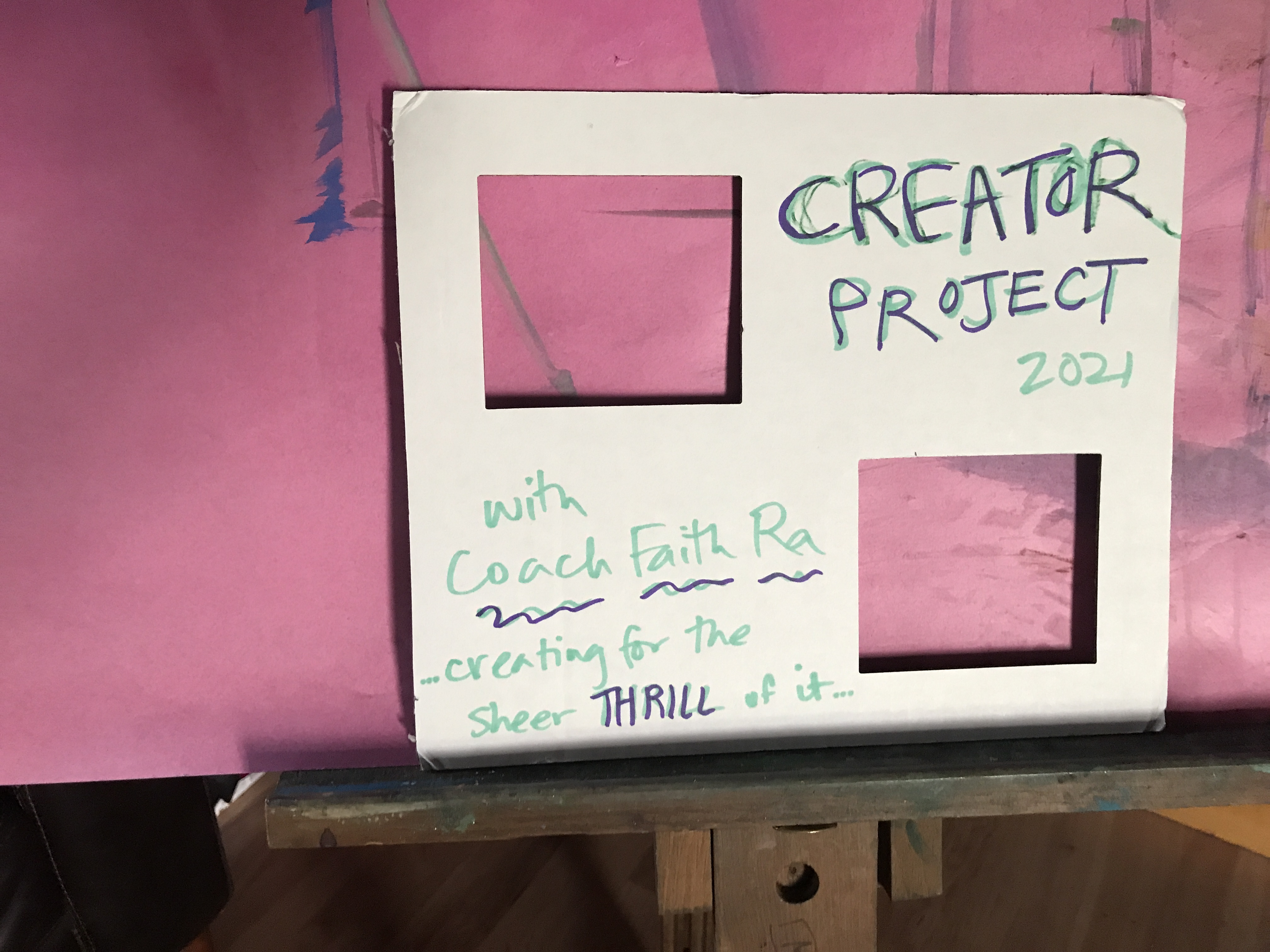 Creator Project 2021 with Coach Faith Ra